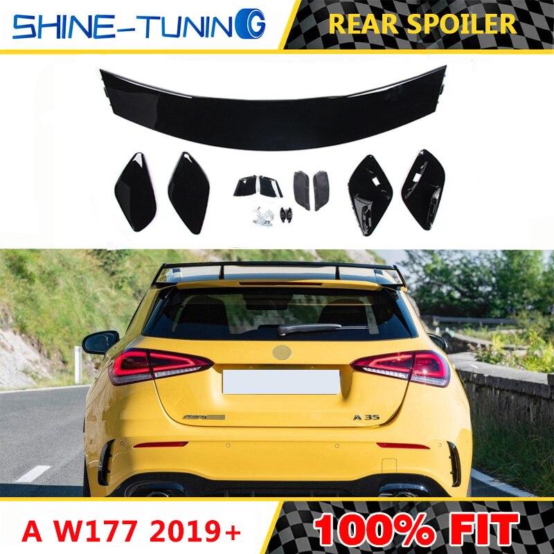 Adecuado para mercedes Clase A W177 alerón trasero negro pintado deportes w177 alerón A180 A200 A250 A45 2019 +