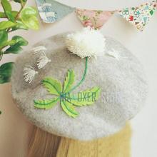 Biamoxer Лолита Шляпа женская берет шапка горячий Мори девушка берет живописца шапка Одуванчик простой сладкий элегантный милый подарок на ден...