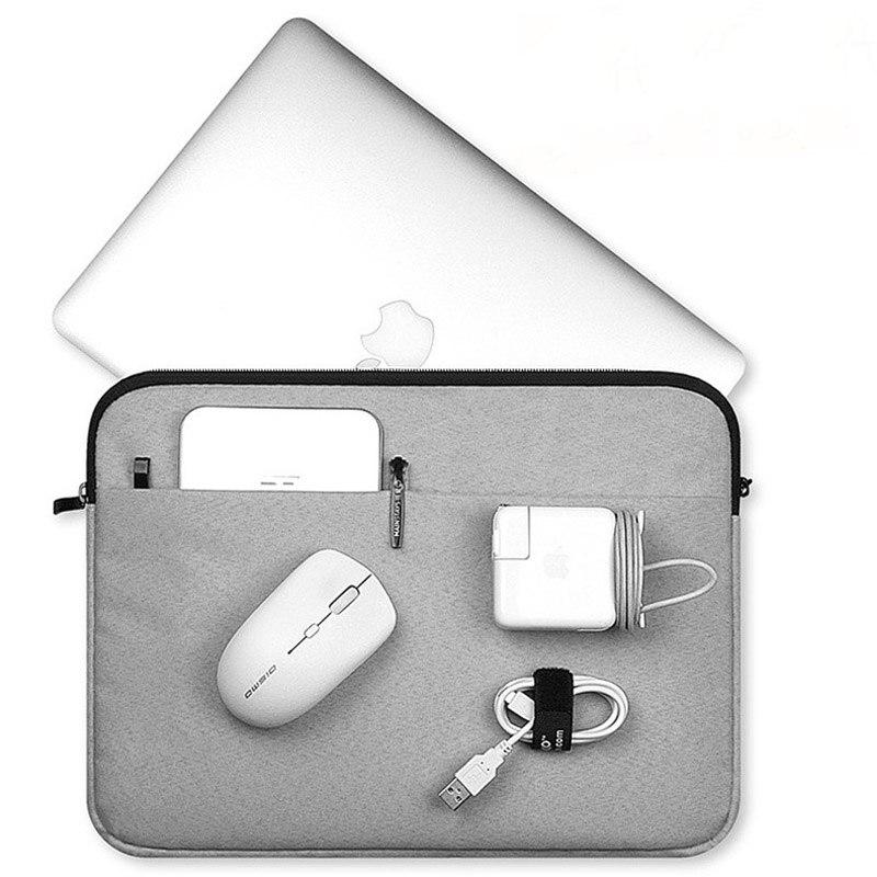 Tela Tablet PC protector impermeable portátil caso manga suave de paquete de bolso de la cremallera para iPad Macbook