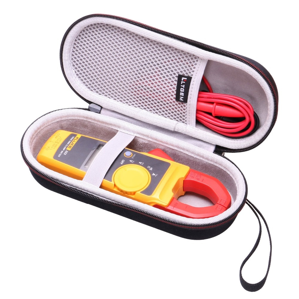 LTGEM Hard Case for Fluke 323/324/325 True-RMS Clamp Meter Clamp Multimeter AC-DC TRMS, Mesh Pocket