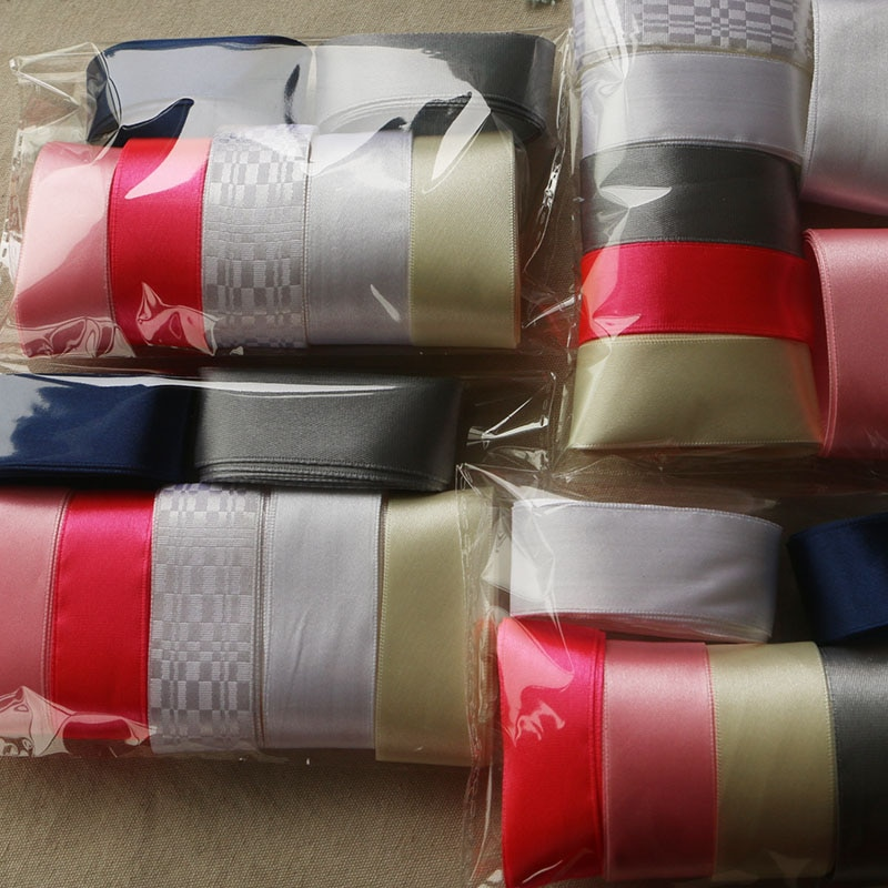7Yards/Roll Grosgrain Satin Ribbons for Wedding Christmas Party Decorations DIY Bow Craft Ribbons Card Gifts Wrapping Supplies