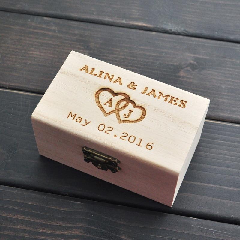 Boîte porte-anneau de mariage rustique   Boîte à anneaux de mariage personnalisée, boîte porte-anneau en bois, décor de mariage, cadeaux personnalisés