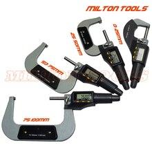 0-100mm Digital micrómetro electrónico micrómetro exterior 0-25mm 25-50mm 50-75mm 75-100mm 4 unids/set