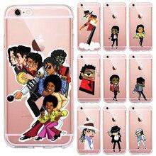 for Iphone 8 phone case Cartoon MJ Michael jackson Para o iphone X 4 5S se 6 6 s 7 8 Plus xs max case TPU silicone Tampa Coque