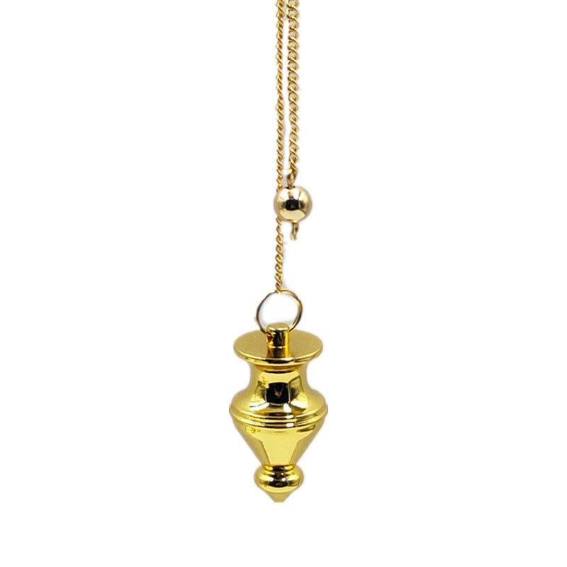Dije de péndulo collar Dowsing pirámide curativa espiritual Reiki péndulo para dowsing de cobre de metal encantos Chakra Amul