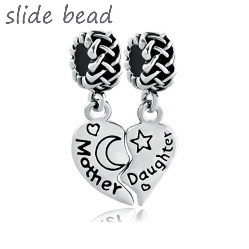 Fit Pandora charme pulseiras Pulseiras Celtas do Nó de Mãe e Filha Charme Pulseira Espaçadores contas para fazer jóias