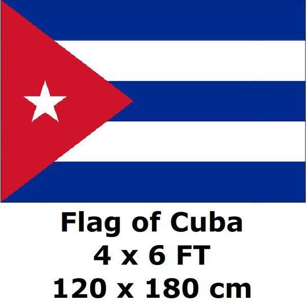 Большой китайский флаг 120x180 см 100D из полиэстера, большие кубинские флаги и баннеры, национальный флаг, баннер со страной
