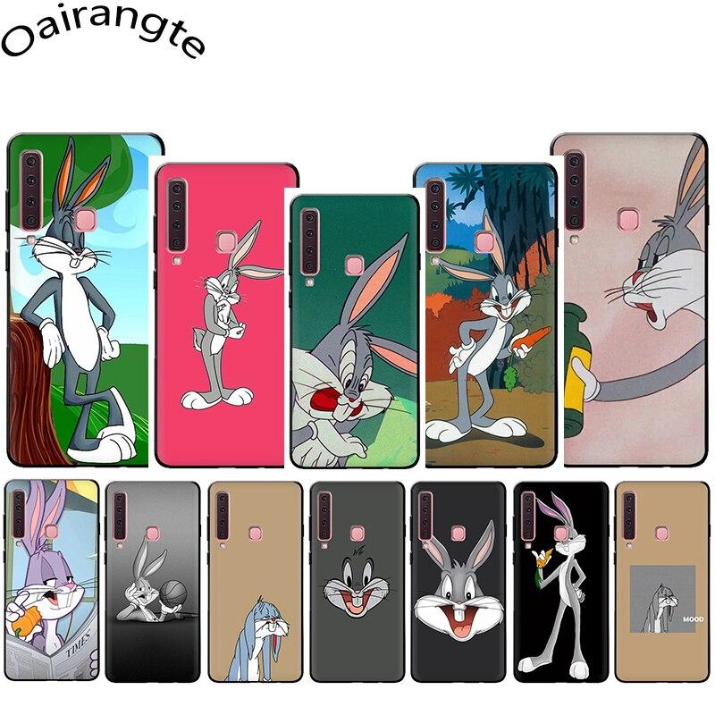De dibujos animados de Bugs Bunny funda de teléfono suave para Samsung Galaxy A5 A6 A7 A8 A9 A10S A20S A30S A40S A50S A60 A70 J6