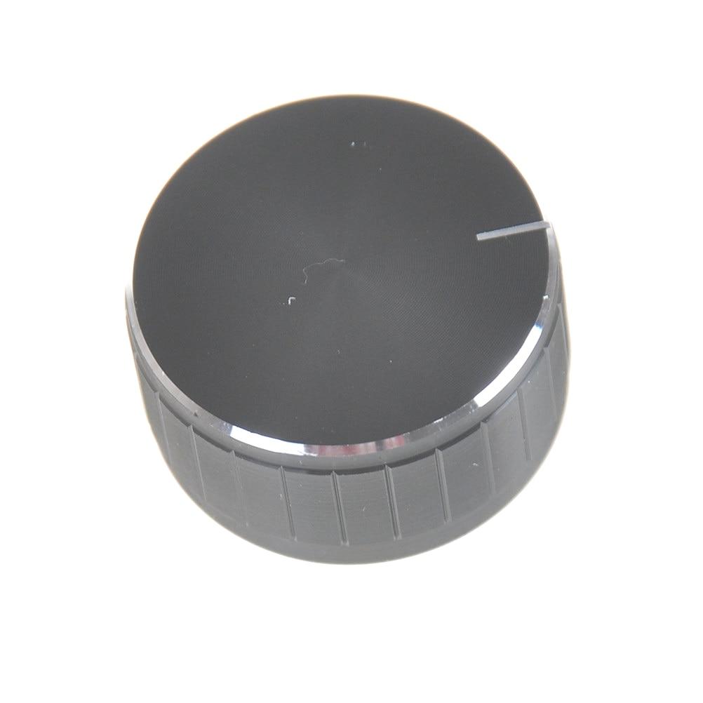 1pcs controle de volume botões giratórios preto serrilhado potenciômetro do eixo 34*17mm preto alumínio controle de volume amplificador botão roda