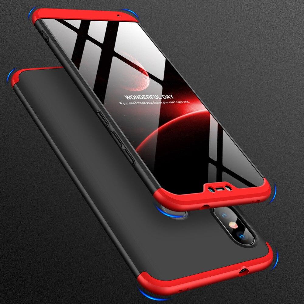 Para Xiaomi Redmi 6 Pro Caso 360 Graus Protegido Phone Case Full Body para Redmi6 Pro Caso Capa À Prova de Choque + filme de vidro Redmi 6pro