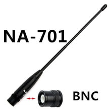 Originale Nagoya antenna BNC NA-701 144/430 Mhz Dual Band High Gain Antenna BNC Per Walkie Talkie ICOM Yeasu Kenwood