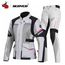 SCOYCO Motorcycle Jacket Protective Gear Women Summer Moto Jacket Night Reflection Motocross Jacket Chaqueta Moto CE Protection