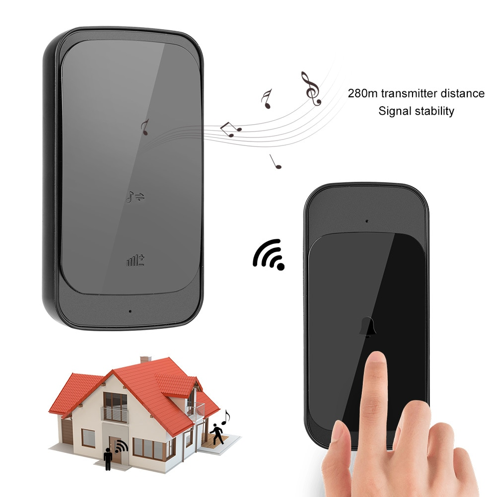 Wireless Door Bell Doorbell Slim Remote Control Intelligent Door Bell Ring Elderly Caller Doorbell Door Ring Timbre Inalambrico