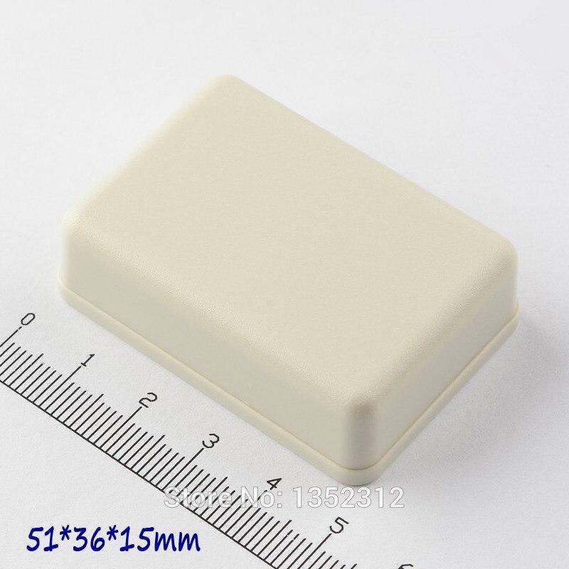 100 قطعة/الوحدة 51*36*15 مللي متر صغيرة البلاستيك حالة للإلكترونيات البلاستيك الضميمة مشروع ماء مربع تقاطع مربع DIY التبديل مربع
