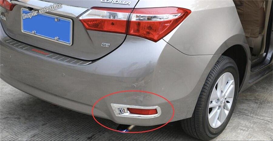Lapetus faros antiniebla traseros, cubierta de lámpara Fogligth, ajuste de estilo cromado para Toyota Corolla 2014 2015 2016, accesorios ABS para Exterior