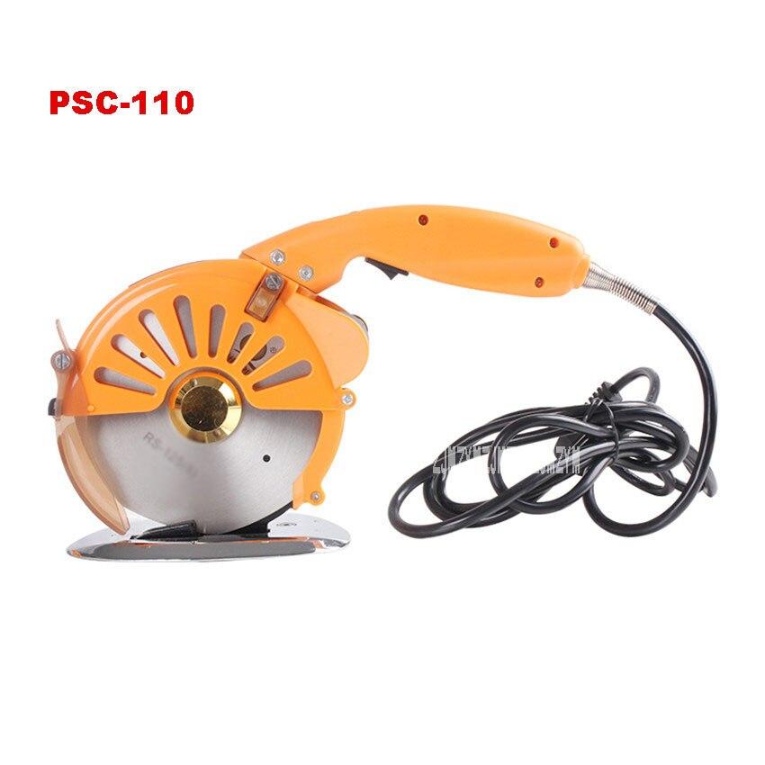 ¡Novedad! PSC-110 cortadora de cuchillo redondo eléctrica máquina de corte de tela tipo empuje 110v-240v 3,6-250W 600-1200RPM 0-32mm