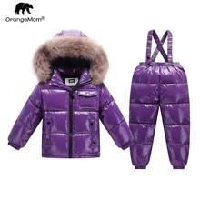 Orangemom-veste dhiver en métal pour enfants   Vitrine officielle, costume de neige pour garçons et filles, couleur de la mode, vêtements dhiver pour enfants