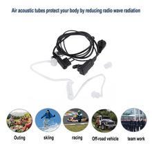 Alloyessd m-tipo plug 2 pinos in-ear fone de ouvido tubo de ar microfone proteção contra radiação fone de ouvido para motorola gp300 rádios em dois sentidos