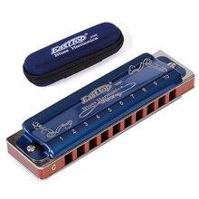 Easttop Harmonica Diatonische 10 Gaten Blues Harp 2 Kleur 12 Toetsen T008K Mond Ogan houtblazers Muziekinstrument Melodica gaita