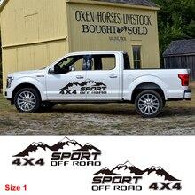 Sport Pick Up Truck Decor Vinyl Aufkleber Off Road 4X4 Berg Grafiken Aufkleber Auto Styling Auto Körper Tür Seite Angepasst aufkleber