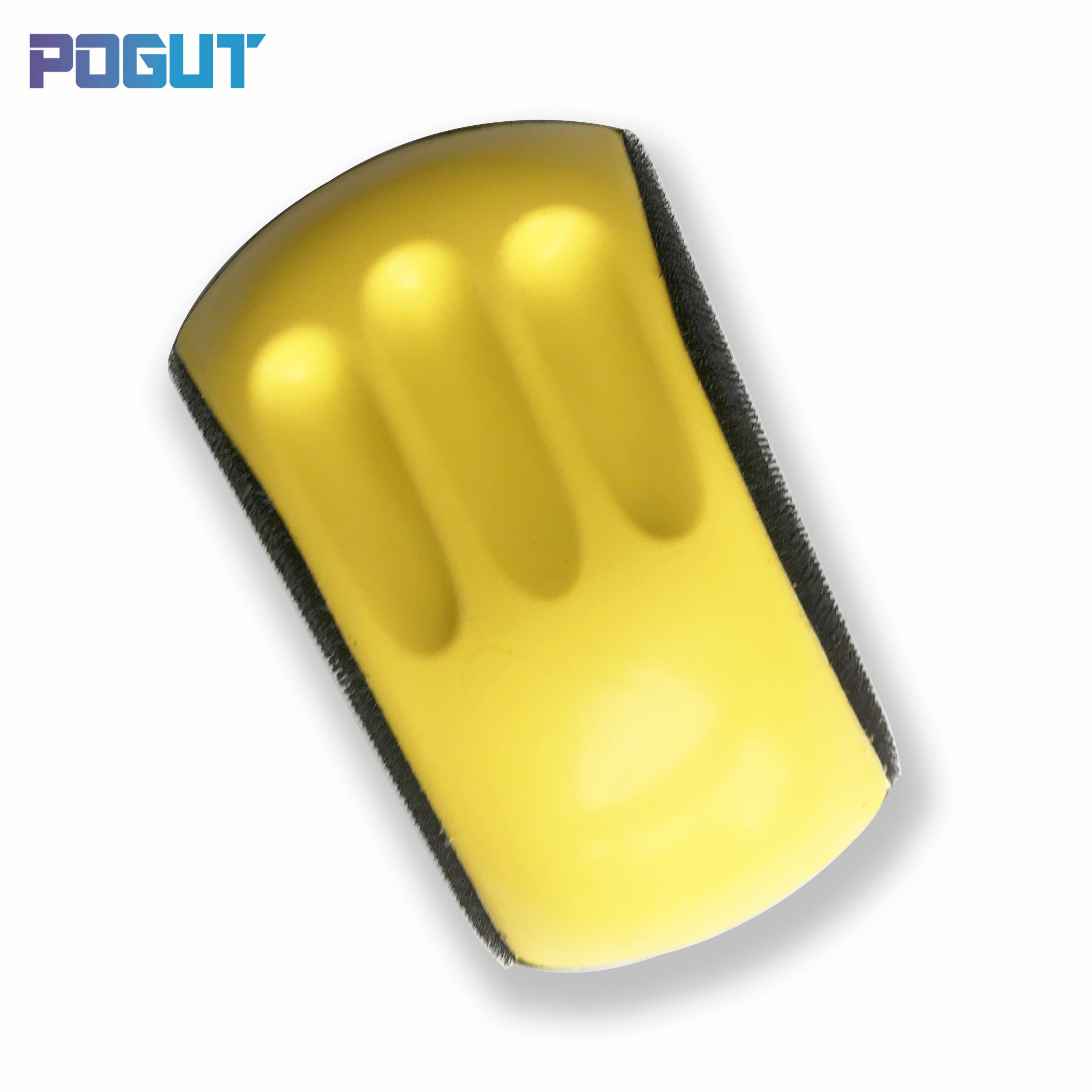 "6"" Mouse Shaped Backing Base Pad Hand Grinding Block for Hook & Loop Sanding Disc Sandpaper"