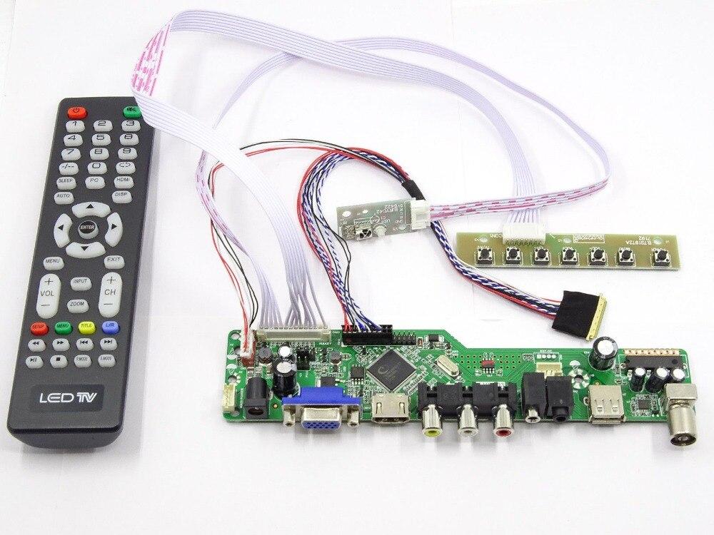 Latumab Kit para B140RW03 V1 V.1 TV + HDMI + VGA + USB LCD pantalla LED controlador de envío gratis