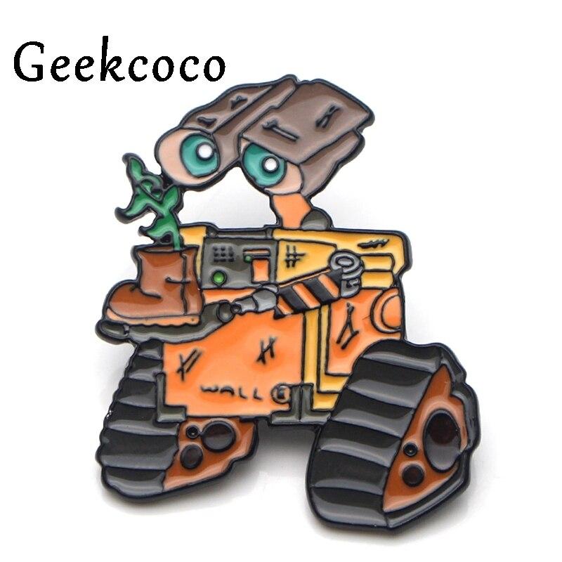 WALL E Robots Cartoon Brooch for men women Pride Enamel Pin medal Cartoon For shirt backpack clothes bag decoration Badges J0140