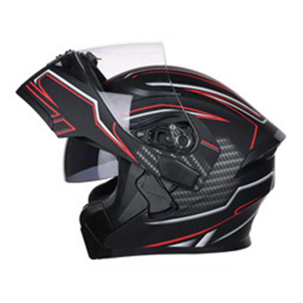 JIEKAI мотоциклетный шлем с Откидывающейся Крышкой для мотокросса, яркий дышащий Удобный шлем с двойной линзой, мотоциклетный шлем