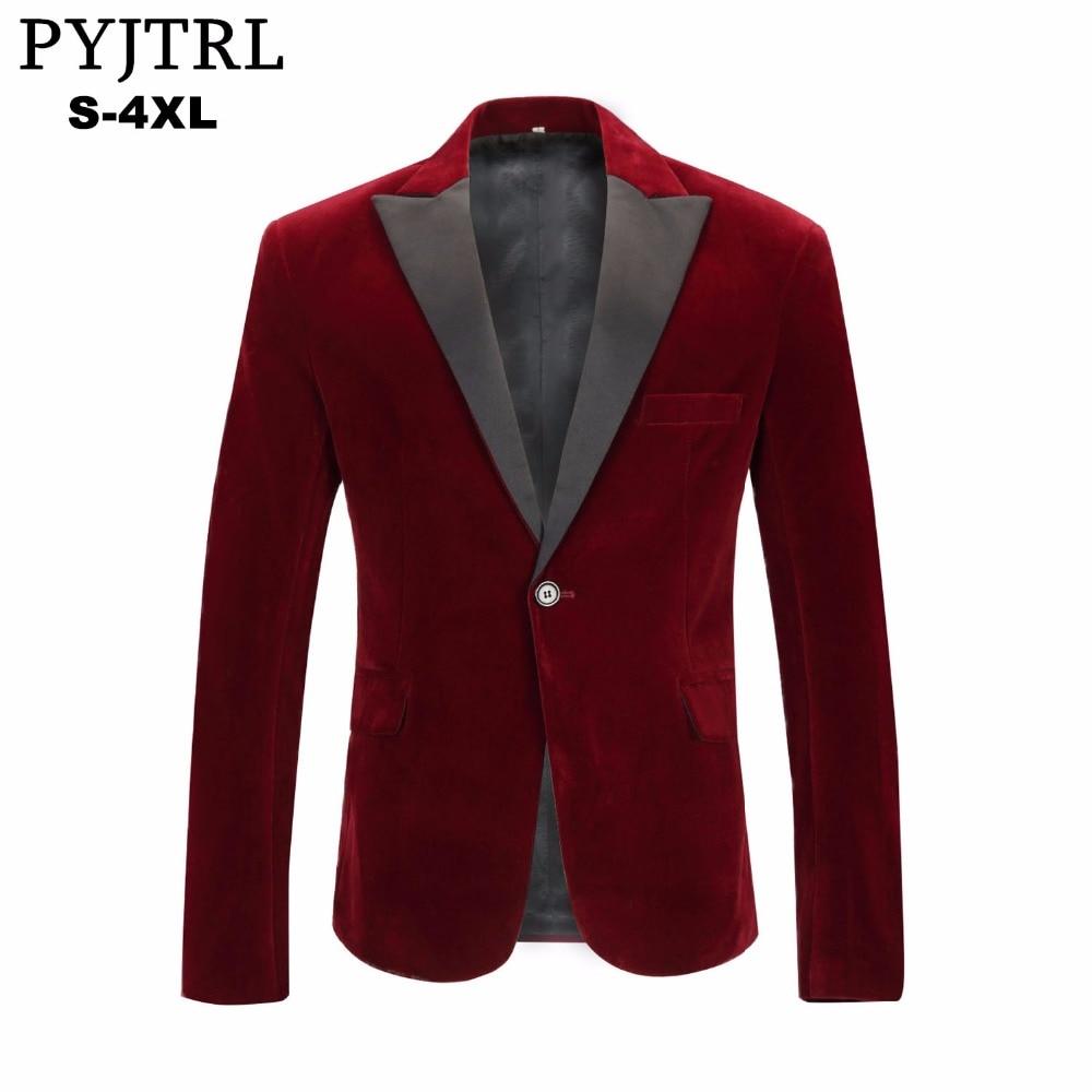 Блейзер PYJTRL мужской, Осенний/зимний, вельветовый, винно-красный, модный, для отдыха
