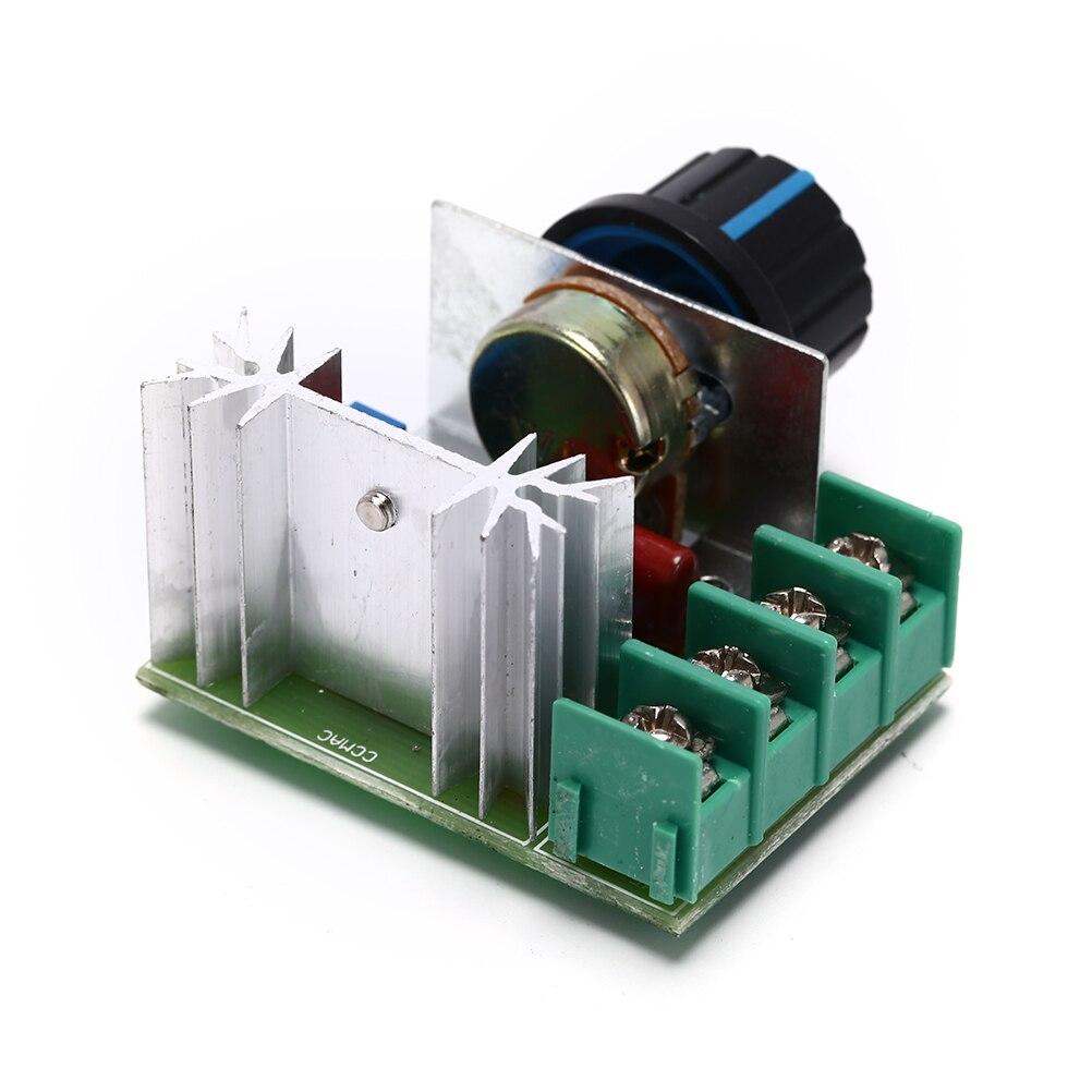 2000 Вт тиристорный электронный диммер SCR выпрямитель SCR регулятор скорости контроль температуры Термостат AC 220 В