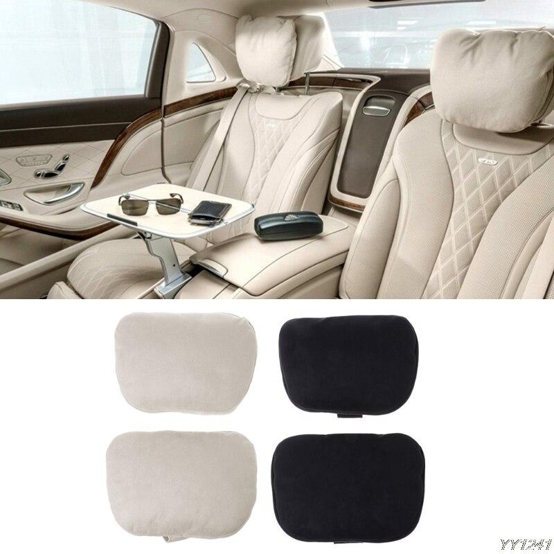 2Pcs Design S Class Car Neck Seat Soft Cushion Brand Headrest Covers For Mercedes-Benz Bmw Audi Toyota Bentley Maserati