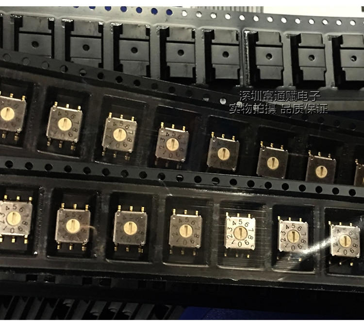 DIP تايوان جولة الرقمية الروتاري التبديل التشفير 0-9/10 بت R7M3-10R 3:3 قدم RJM6-10R