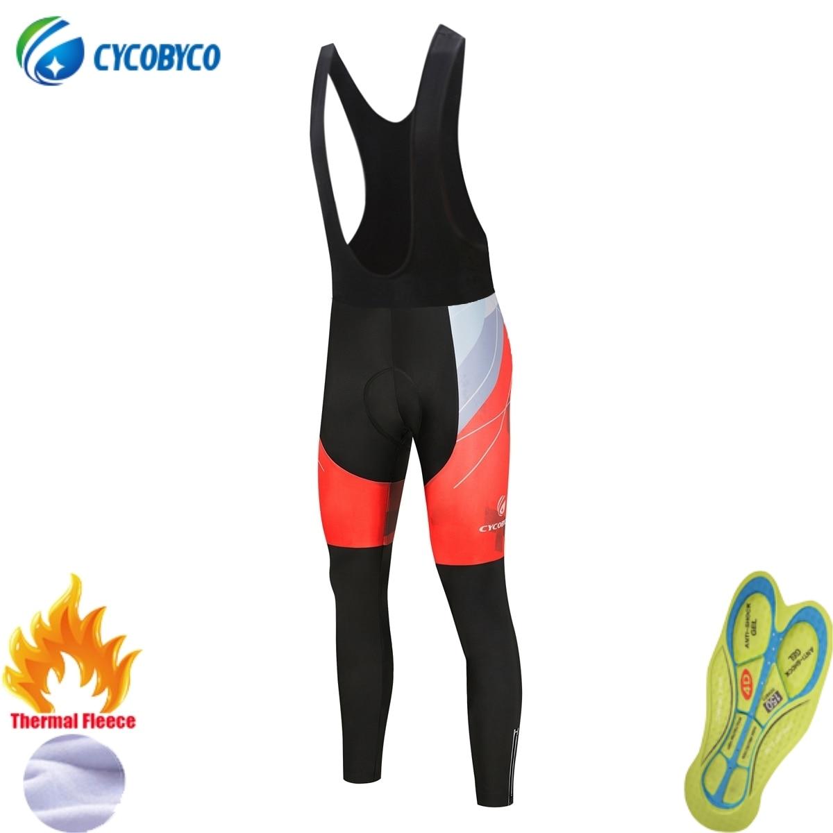 Cycobyco-Pantalones largos con almohadilla de Gel para Ciclismo, mallas acolchadas de alta...