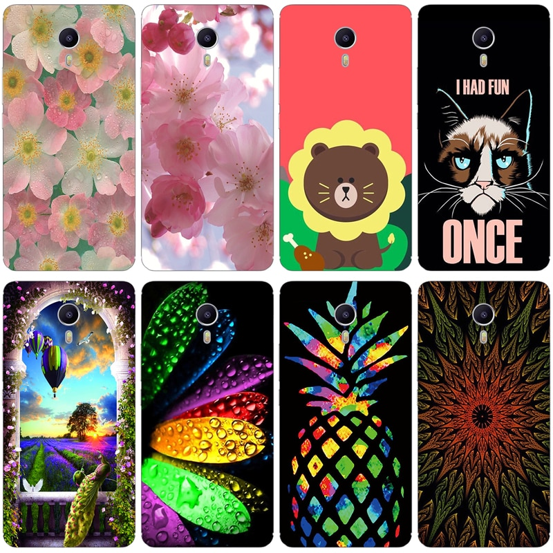 Soft Shell for Meizu 3 Max Cases Silicone Flowering Cover 6.0 inch for Meiblue 3 Max Mobile Phone fo