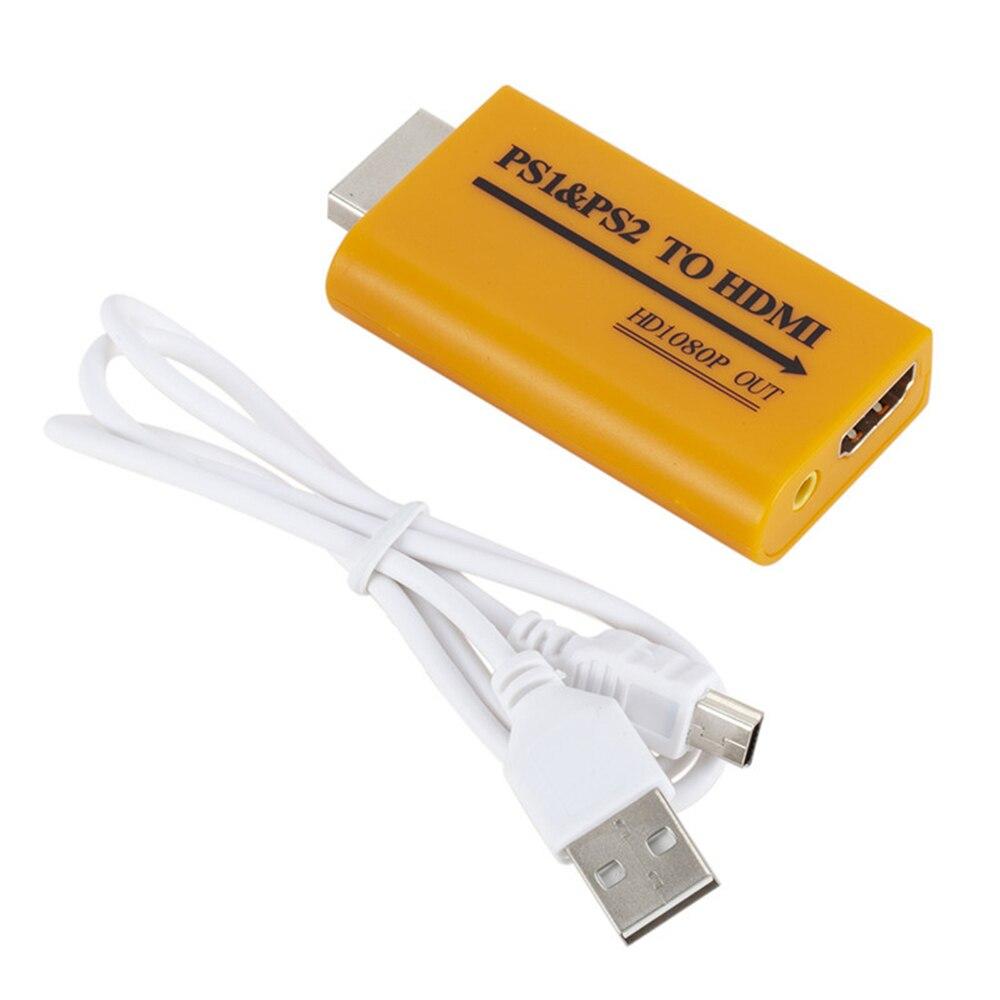 Para ps1/ps2 para hdmi atualização suporta 1080p saída para ps1 ps2 para hdmi conversor adaptador