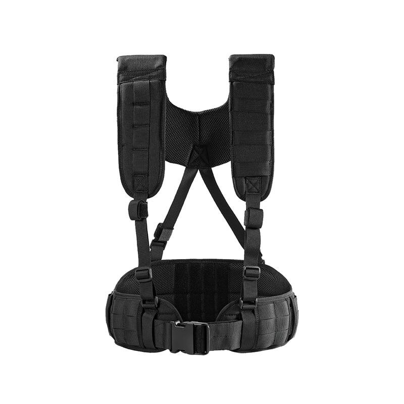 OneTigris Belt Harness Wilderness Tactical Gear Belt 1000D Nylon Airsoft Paintball Combat Duty Molle Gun Belt Pad with Suspender