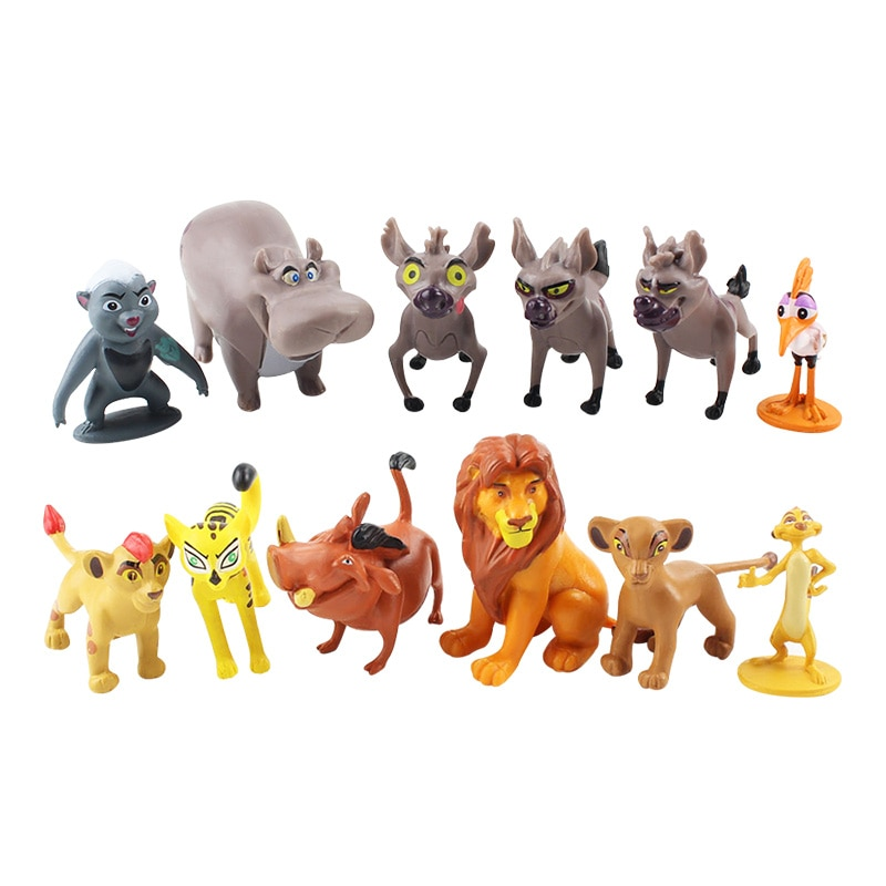12 teile/satz Cartoon Die Lion Schutz König Kion Simba PVC Action-figuren Bunga Beshte Fuli Ono Figuren Puppe Kinder Spielzeug kinder Jungen