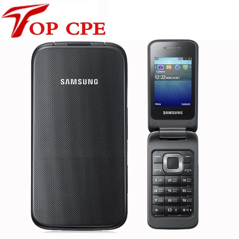 "Original Samsung C3520 Unlocked Mobile phone Flip 1.3MP Black/Silver/Pink color 2.4"" 1 Years Warranty"