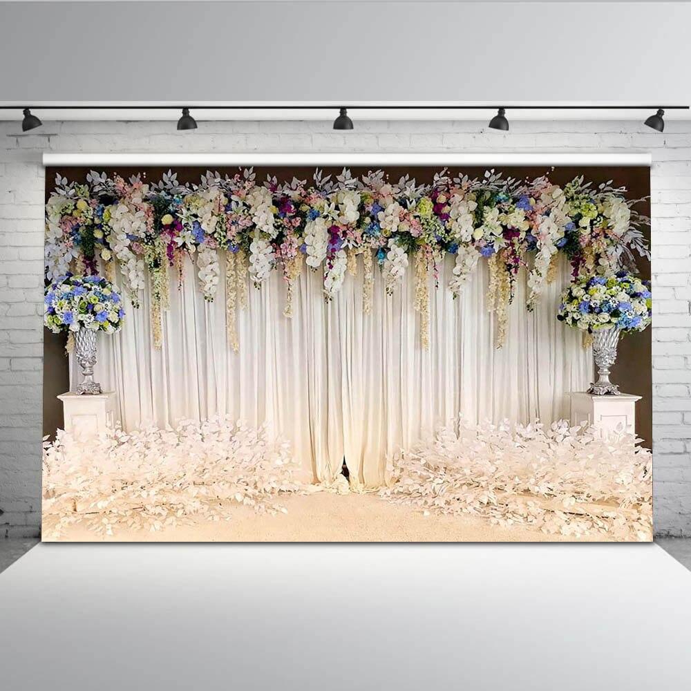 Mehofoto fotografia tło białe tło do zdjęć ślubnych do fotografii kwiatowe tła dla fotografów Studio G-192