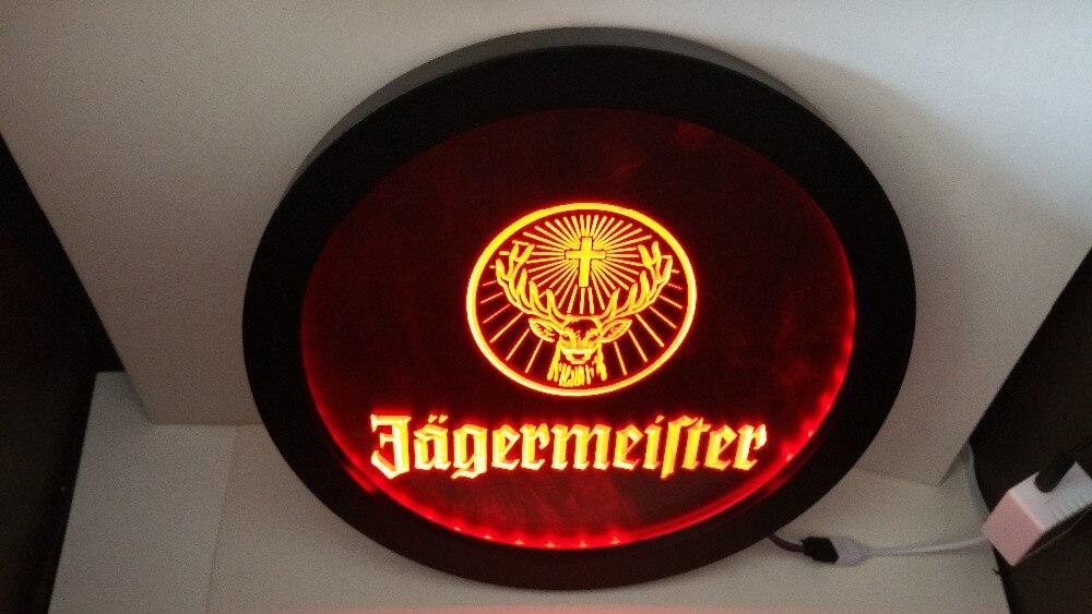 B182 Jagermeister رأس غزال RGB led متعدد الألوان التحكم اللاسلكي البيرة بار حانة نادي ضوء النيون تسجيل هدية خاصة