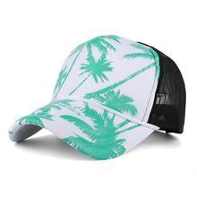 Coco Print Baseball Caps Men Women Snapback Hip Hop Hat Summer Breathable Mesh Sun Gorras Unisex Streetwear Bone #LR2