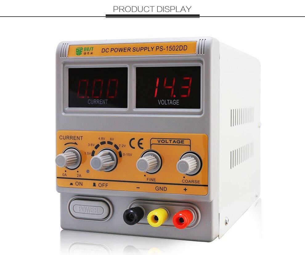 BEST-1502DD الهاتف المحمول إصلاح DC قابل للتعديل امدادات الطاقة الجهد ينظم الرقمية عرض عالية الدقة الطاقة Supply15V/220V