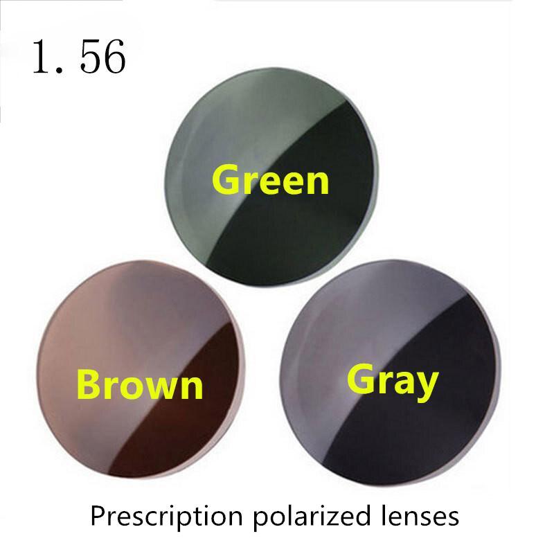 Высокое качество 1,56 индекс по рецепту солнцезащитные очки поляризованные линзы серый зеленый коричневый желтый 4 цвета в наличии
