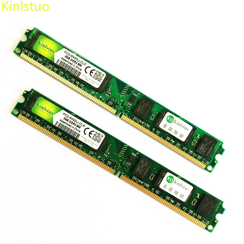 Kinlstuo DDR2 2GB memory 800MHz/667MHz/533MHz 2gb ddr2 1gb Rams New memories For intel & AMD