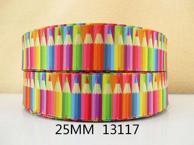 """(5yds por rollo) 10Y13117 cinta de kerryribbon 1 """"cinta de grogrén impresa DIY cinta de la cabeza y accesorios de la prenda del arco"""