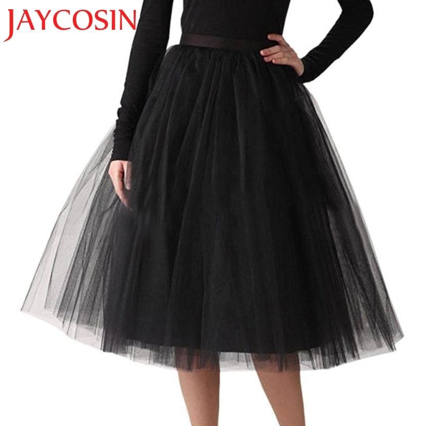 JAYCOSIN 2020 mujer alta calidad gasa plisada longitud de la rodilla falda adulto tutú baile falda Dropshipping Freeship 20p