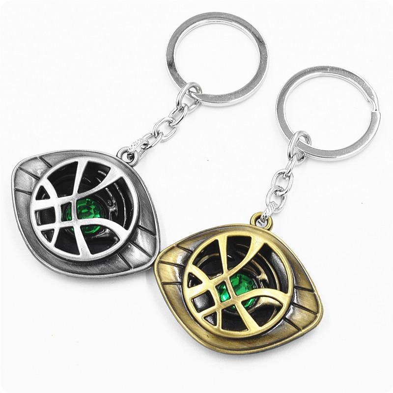 Marvel superhéroe figura Doctor extraño Ojo de Agomotto juguete Dr Strange Ojo de Agamotto clave cadena llavero para bolso y coche regalo