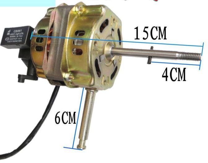 محرك مروحة مع مكثف, 220V 60W 1200 RPM 3 تروس
