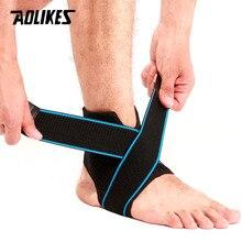 AOLIKES 1 pièces manchon de Compression de soutien de cheville avec sangle réglable pour les femmes hommes cheville Wrap Football basket-ball course