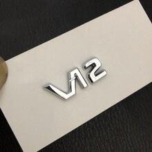 Badge emblème chromé V12 pour Mercedes Benz Maybach, autocollant pour Console centrale intérieure, Logo Fob, accessoire de style de voiture pour S500 S600